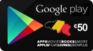 gift card google play belge 50 €