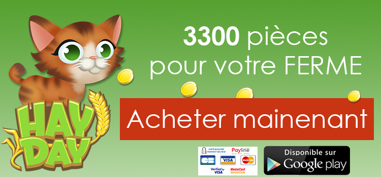 hay day acheter 3300 pièces play store